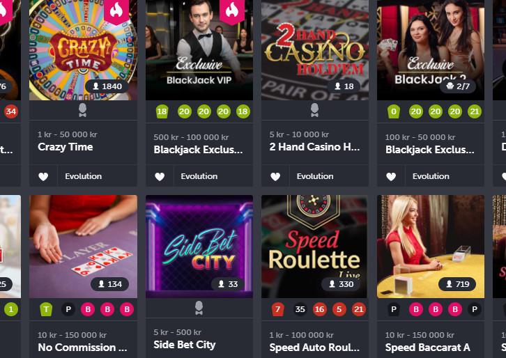 comeon casino norge